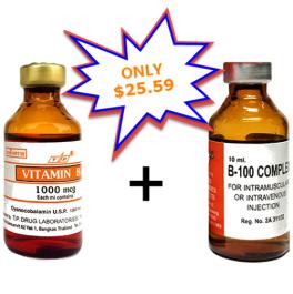 Vitamin B12 1000mcg and B100 B-Complex 10ml vial injection