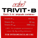 Image of 20 x 3ml Ampules Vitamin B12 Injection Trivit-B Complex label