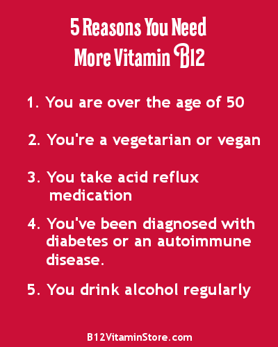 5 Reasons You Need More Vitamin B12