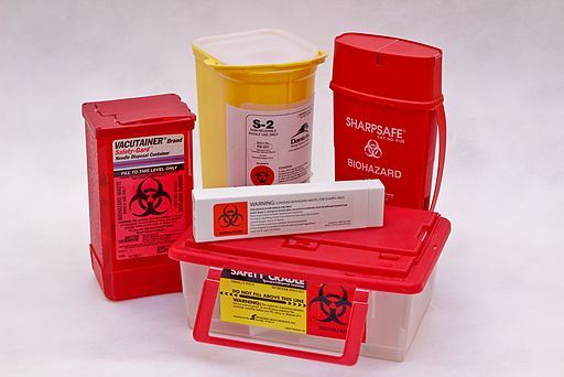 Sharps disposal containers for b12 injection needles