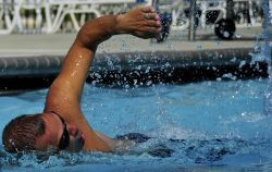 male swimmer healthy